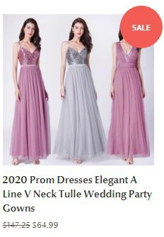 2020 Prom Dresses Elegant A Line V Neck Tulle Wedding Party Gowns