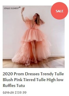 2020 Prom Dresses Trendy Tulle Blush Pink Tiered Tulle High low Ruffles Tutu