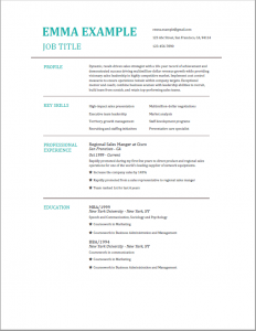 resume template for experience - modern template