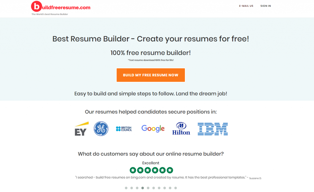 where can i find a genuine free resume builder