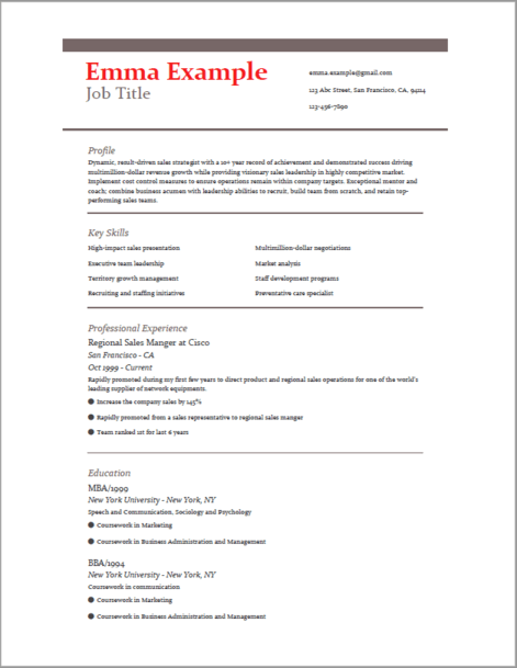 how to write your resume - example template