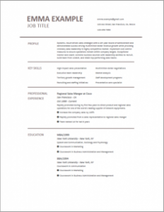 resume template Best Resume Templates 2019
